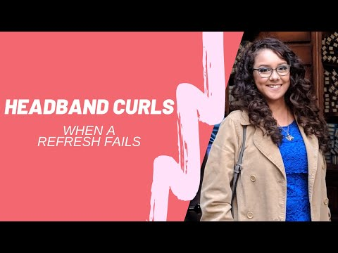 Overnight heatless headband curls for stretched out hair