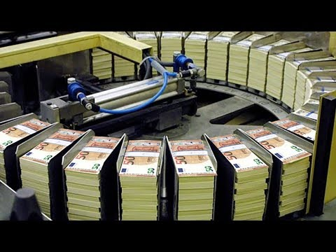 Amazing Money Print Technology - 50 Euro Note Print Process