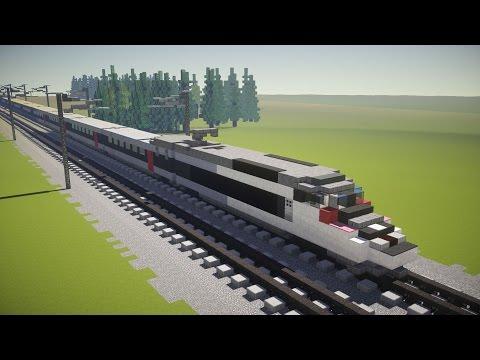 Minecraft TGV Réseau Train Tutorial