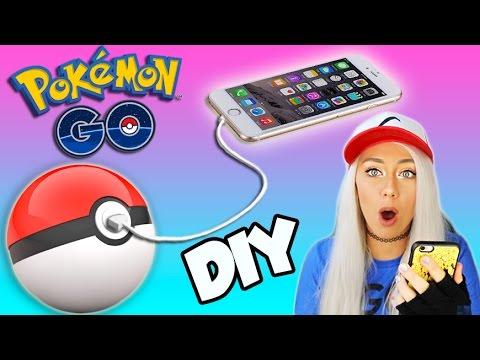 DIY PORTABLE POKEBALL PHONE CHARGER + GIVEAWAY! POKEMON GO DIY