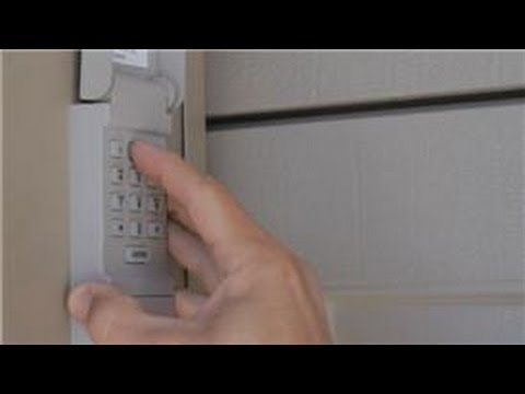 Garage Door Help : How to Reset a Garage Door Keypad Outside