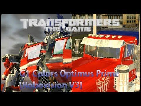 Transformers The Game Mods | G1 Colors Optimus Prime [Robovision V3]