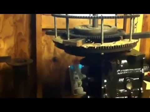 Ed Leedskalnin part 1 ( how to build ) his magnetic flywheel generator.