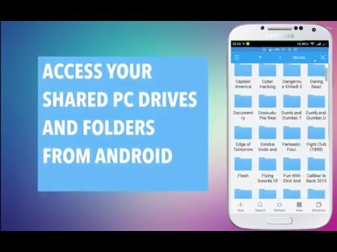 Access your Shared PC Drives and Folders from Android Mobile - ES File Explorer