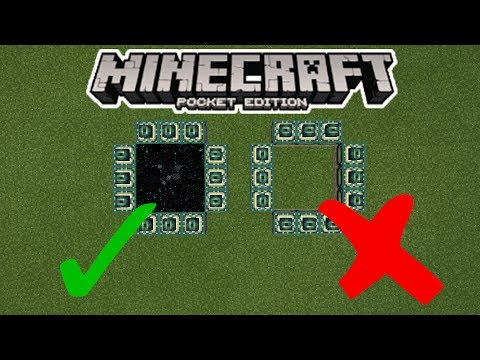How To Make an End Portal in MCPE (Minecraft PE)