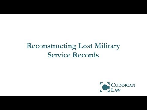 Reconstructing Lost Military Service Records