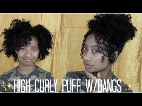 High Curly Puff w/Bangs  Tatyana Celeste ❤︎