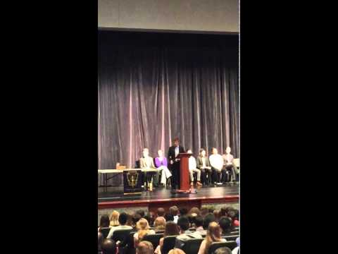Inspiring National Honor Society Speech (POWERFUL!!!)