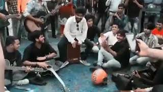 Amazing street song by indian college group (dulhe ka sehra remix song using clapbox cajon)