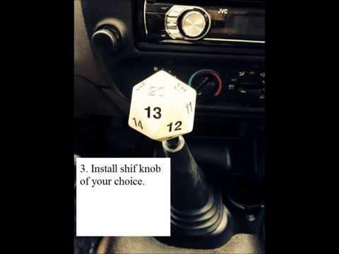 Ford Ranger shift knob removal