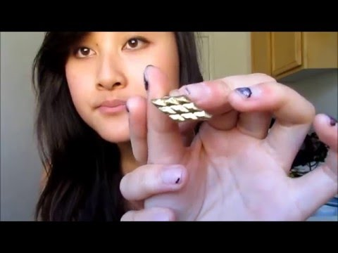 DIY: Feather Chain Stud Earring