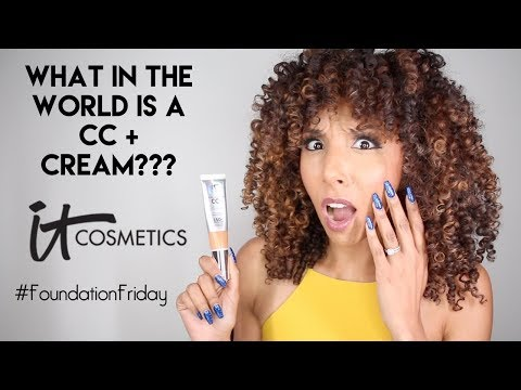 What In The World is a CC+ Cream?? iT Cosmetics Review! Foundation Friday! | BiancaReneeToday