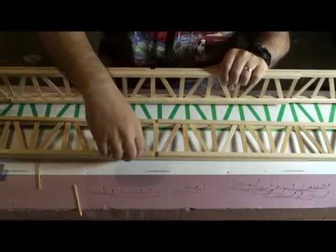 How To Make The Popsicle Railroad Bridge - Part 3