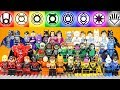 LEGO Blackest Night  Emotional Spectrum Red Orange Yellow Green Lantern Corps Minifigure Collection