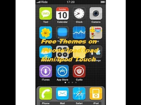 How To Get Free Themes On iPod Touch/ iPad mini/ iPad / iPhone 3Gs/4/4s/5 on  iOs 6.0./6.0.1./6.1.2