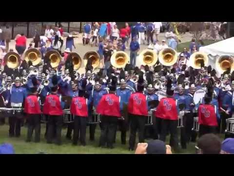 Marching Jayhawks pre-game September 20, 2014. 67th Annual KU Band Day
