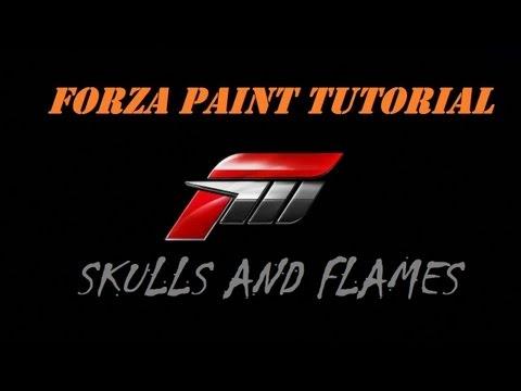 Forza Horizon - Paint Tutorial 1 -  Flames and Skulls