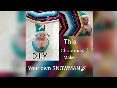 diy decorative socks snowman for kids