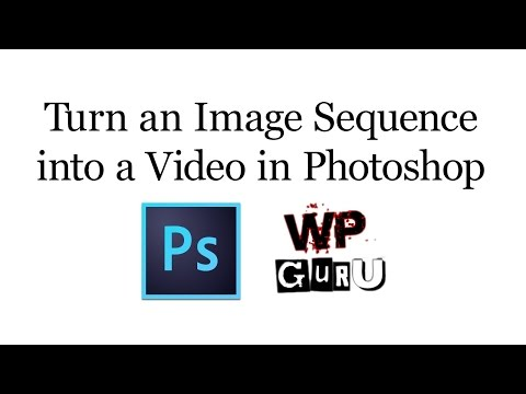How to turn an Image Sequence into a Video in Photoshop