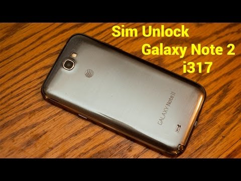 How To: New 2014 SIM Unlock AT&T Samsung Galaxy Note 2 i317 FREE