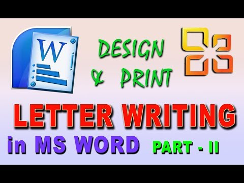 How to compose a letter in ms word 2013 in bengali || Make application letter, Part - II