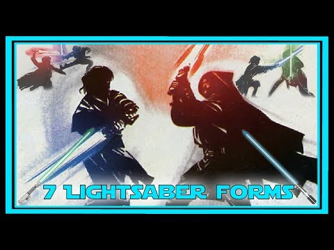 What are the 7 Forms of LIGHTSABER COMBAT?