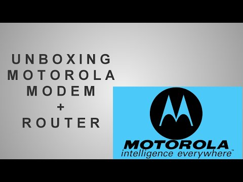 ♦ Unboxing Motorola MG7550 Modem/Router