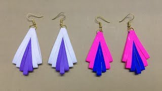 How To Make Paper Earrings // Paper Jewellery making //Paper Quilling Tutorial - Easy DIY