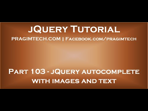 jQuery autocomplete with images and text