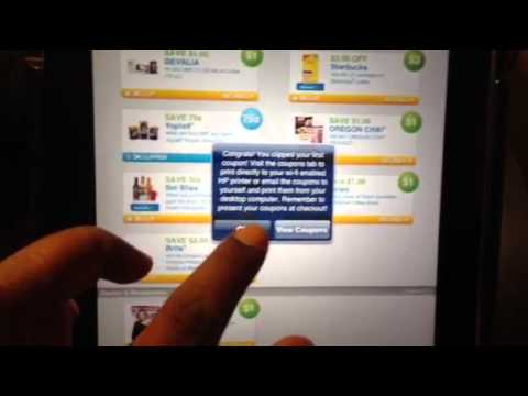 How To Print Coupons From Your IPhone IPad or iPod touch