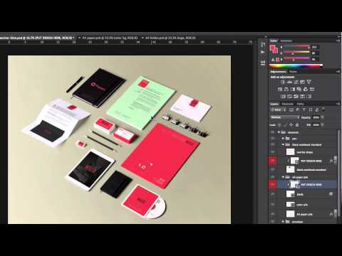 Stationery Branding Mock Up Vol 1 - Tutorial - PIXEDEN