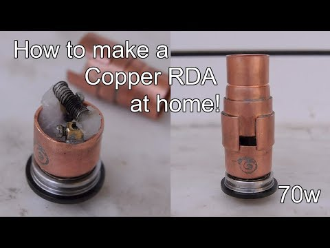 DIY | How to Make Copper E-Cigarette at Home - RDA Atomizer