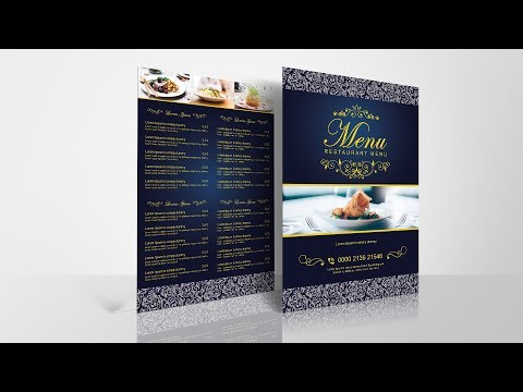 How to Create Restaurant Menu in Photoshop