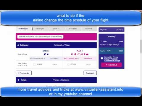 flight scedule / timetable change with low cost airlines