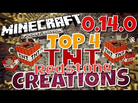 ✔️MCPE 0.14.0 - TOP 4  DEADLY TNT CONTRAPTIONS {REDSTONE} || Rated by POWER (Minecraft PE)