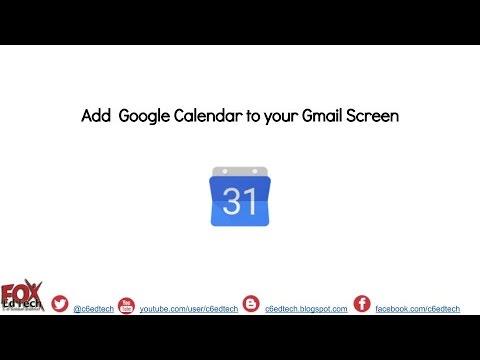 Add a Google Calendar Widget to Gmail