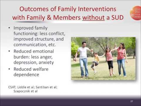 CTN Webinar: Family Involvement in Substance Use Disorder and Mental Health Treatment and Research.