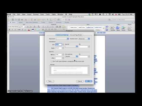 Adusting Line Spacing in Word 2010 (Mac)