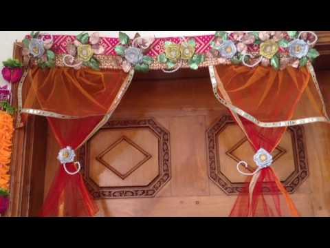 diwali/christmas decoration ideas | flower toran| how to make door hanging |diwali toran diy|kk42