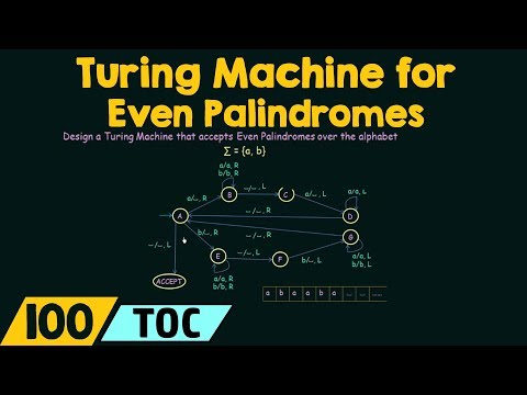 Turing Machine for Even Palindromes