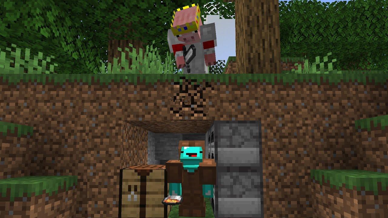 If Technoblade was in Minecraft Manhunt...
