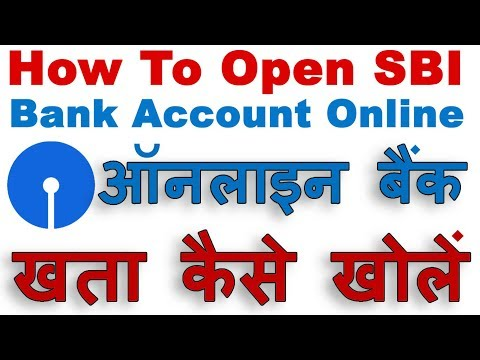 How to Open New SBI Account Online Step By Step Process (Opening Bank Account Online In SBI) Hindi