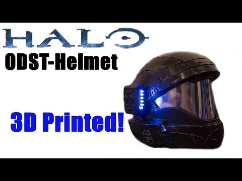 Halo ODST Helmet 3D Printed! (Custom paint with light effects) 4K