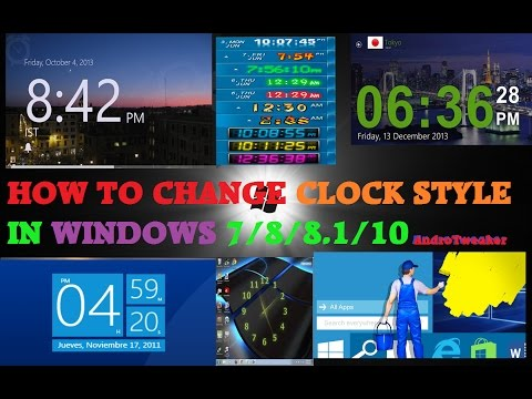 How to Change Clock Style in Windows 7/8/8.1/10