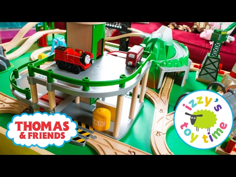 Thomas and Friends   Thomas Train with Brio Parking Garage and KidKraft   Fun Toy Trains for Kids