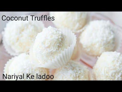 Coconut Ladoo Recipe | Nariyal ke Laddu | Coconut Truffles Without Condensed Milk