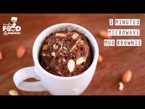 2 Minute Microwave Brownie || 2 MINUTE BROWNIE IN A MUG || How to Make Microwave Brownie in a Mug