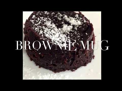 SIMPLE RECIPES - 2 minute MUG BROWNIE (super easy)