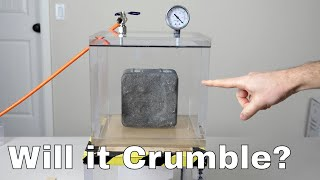 Download Does Concrete Turn to Dust in a Vacuum Chamber? Concrete Without Oxygen Experiment Video