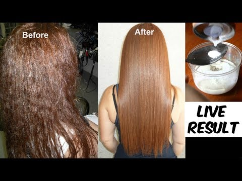 Permanent Hair Straightening At Home Which is as Good as Keratin and Hair Rebonding